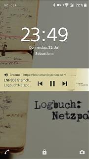 Playback-Notification auf dem Sperrbildschrim unter Android